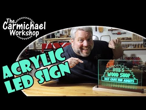How to Make a Light Up Acrylic LED Sign