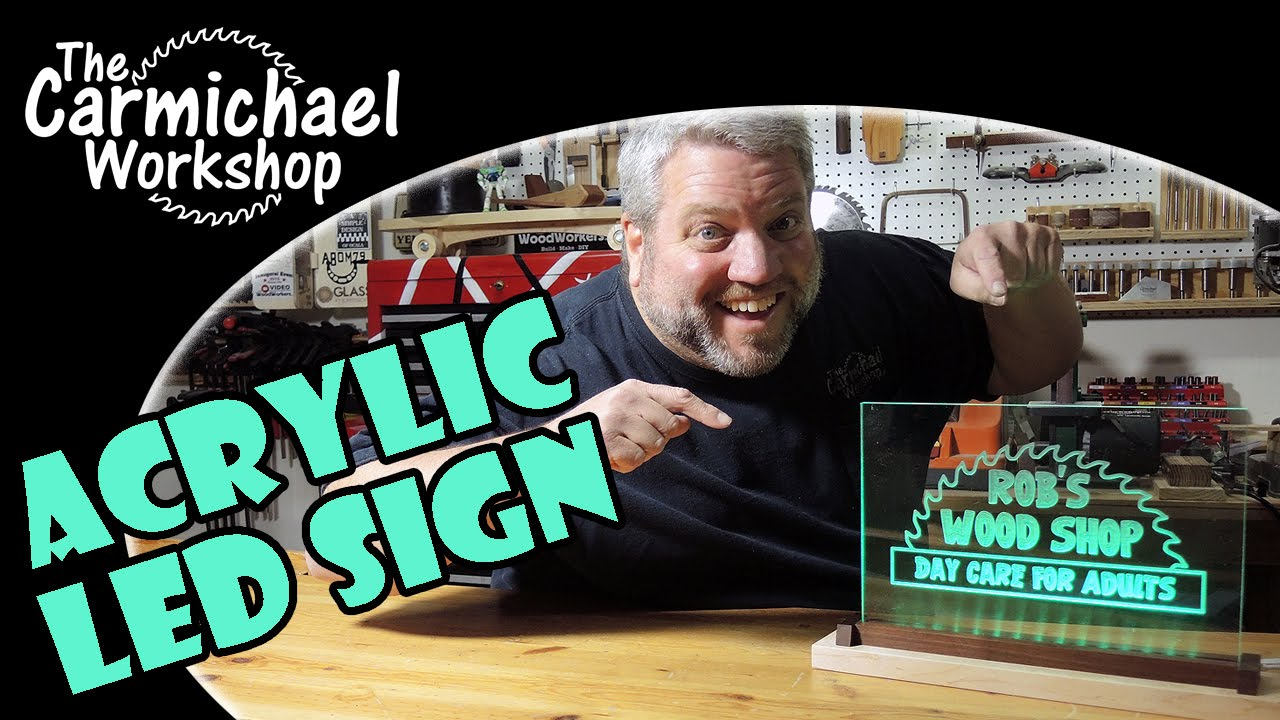 How To Make A Light Up Acrylic Led Sign Youtube