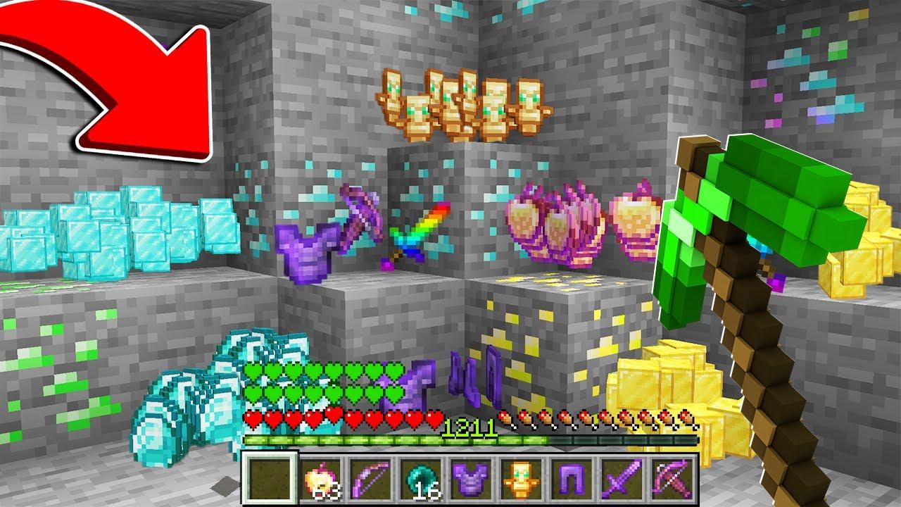 Download %100 DÜNYANIN EN ŞANSLI KAZMASI 😱 - Minecraft