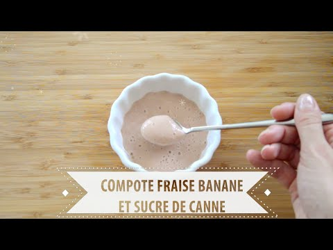 recette-n°4-:-compote-fraise-banane-et-sucre-de-canne---recette-pour-bébé-dès-7-mois