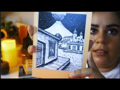 El Salvador Book Haul [ASMR en Español] Whispering, Tracing, Tapping, Reading in Spanish