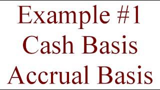 104 - Example #1 for Cash Basis and Accrual Basis Accounting