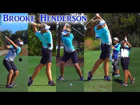 BROOKE HENDERSON CME GOLF SWING FOOTAGE 1080 HD