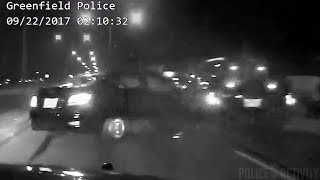 Greenfield PD Dashcam Records Dramatic End To Police Chase