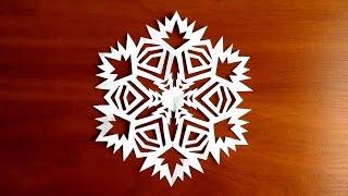 как сделать снежинку из бумаги своими руками схемы красивых снежинок