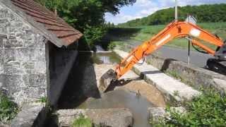 Syndicat de la Manse : travaux au lavoir de la Robinerie