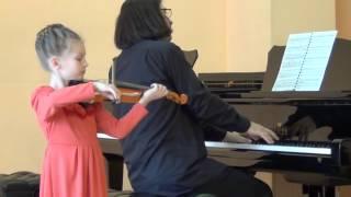 Шпор, Концерт № 2 ре минор, 1 часть, скрипачка Катерина Попова