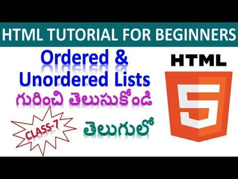 Web Development Course Html Tutorial For Beginners In Telugu Class 7 Youtube