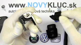Demontáž auto kľuč VW, SKODA, SEAT, AUDI vyskakovací , How to disassembly car key.