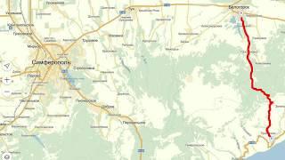 Дорога Белогорск-Приветное. Крым(На видео не видно, но справа, на протяжении всего пути, пропасть была ещё та., 2015-11-05T20:26:02.000Z)