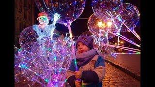 ИСКУССТВО ЗА МИНУТУ Шаромания LED Светящиеся шары Обзор Одесса Дерибасовская Светодиодная гирлянда