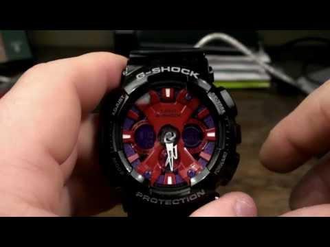 Ga120b 1a Casio G Shock Watch Review Motorcycle Black Red Purple