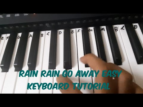 Rain Rain Go Away - Easy Keyboard Tutorial - With Notes
