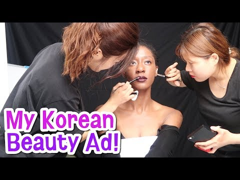 Modeling in My First Korean Makeup Campaign!