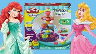 Play Doh Cupcake Tower with Disney Princess Unboxing Toy Review