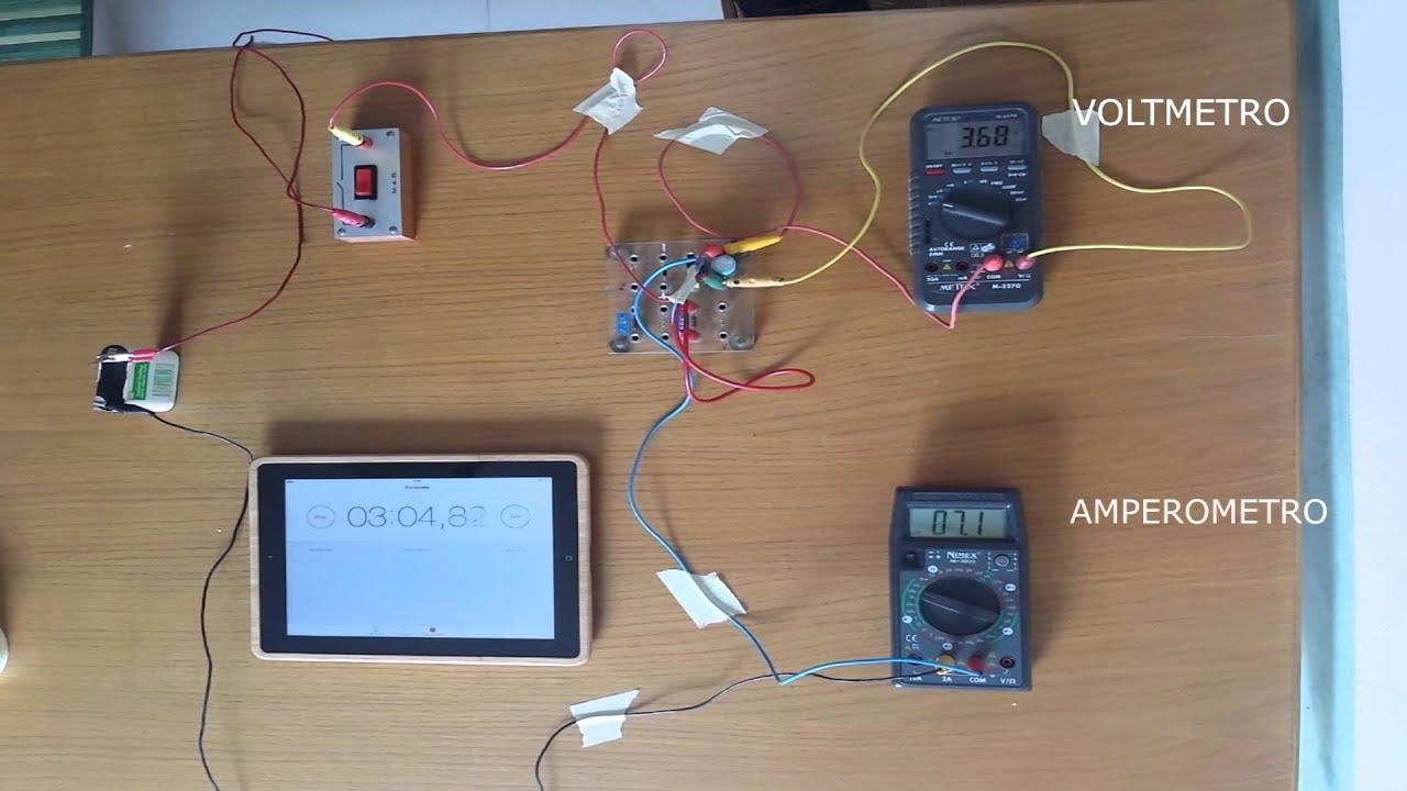 Circuito Rc : Circuito rc progetto di fisica youtube