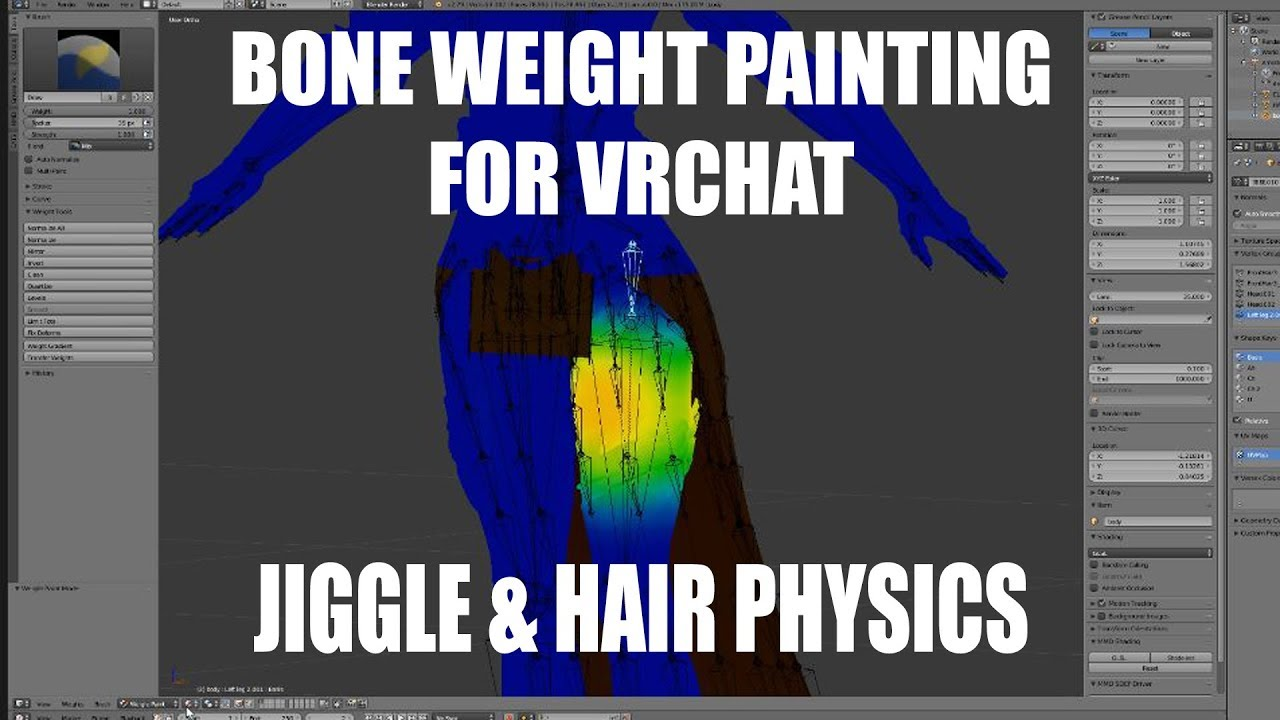 How to add Jiggle & Hair Physics to Your Model in Blender for VRChat
