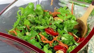 Очень вкусный салат с рукколой