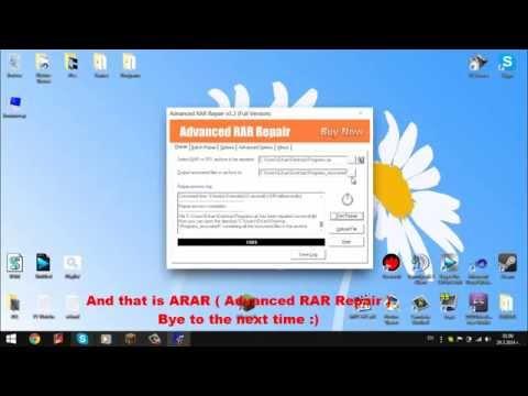 How to remove rar passwords - ARAR (Advanced RAR Repair) - Tutorial