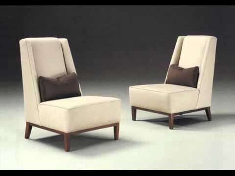 Armless Accent Chairs : Living Room Chairs - YouTube