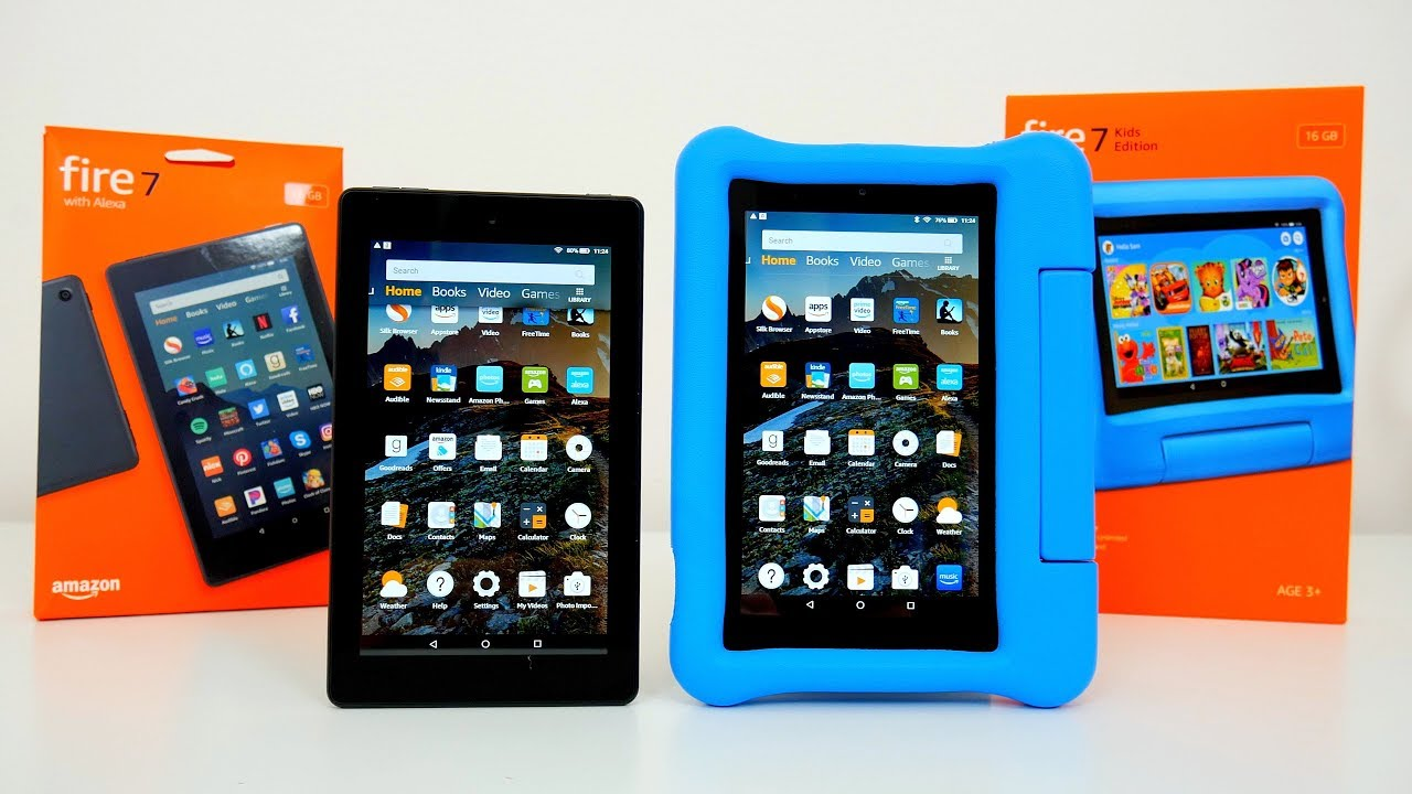 All New Amazon Fire 7 & Fire 7 Kid's Edition Tablets 2019 What's New?