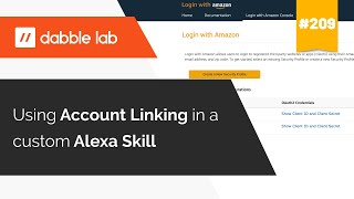 Using Account Linking in an Alexa Skill - Dabble Lab #209