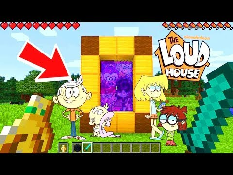 Minecraft : I FOUND THE LOUD HOUSE DIMENSION IN MINECRAFT! Ps3Xbox360PS4XboxOnePEMCPE
