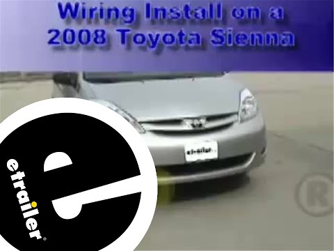 Trailer Wiring Harness Install Toyota Sienna  etrailer