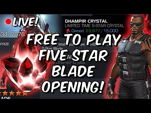 Five Star Blade Featured Crystal Opening! - Free To Play Account - Marvel Contest Of Champions