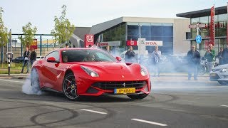 Supercars Arriving - BURNOUTS and Accelerations! F12berlinetta, M6 GT3, Carrera GT, M4 DTM etc!