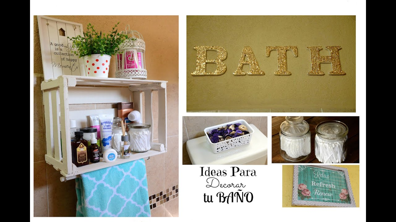 IDEAS PARA DECORAR TU BAÑO - YouTube