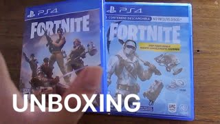 Double Fortnite Unboxing - Physical Copies Ps4 - Save the World/Battle Royale - English