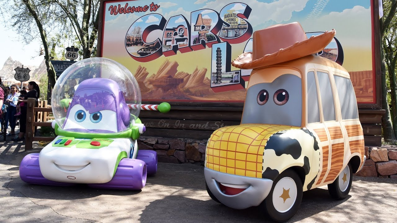 Buzz Lightyear Woody Cars In Cars Land For Pixar Fest In Disney