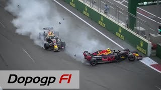 F1, GP Baku 2018: vince Hamilton. Crash Verstappen-Ricciardo, Raikkonen secondo