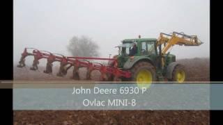 John Deere 6930 Premium and Ovlac MINI-8 Plowing