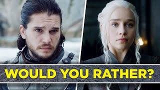 Can You Survive This Game Of Thrones  Would You Rather ?