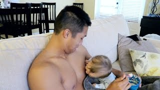 TRYING TO BREASTFEED! thumbnail