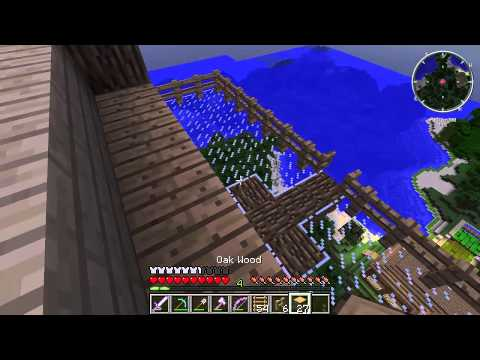 Minecraft Tornado Survival (localized weather mod) S4E15: Weather Tower