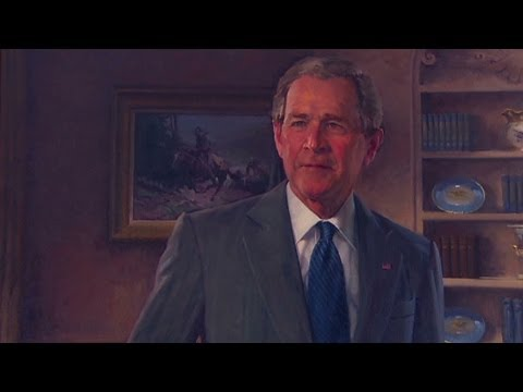 George W. and Laura Bush crack up the room