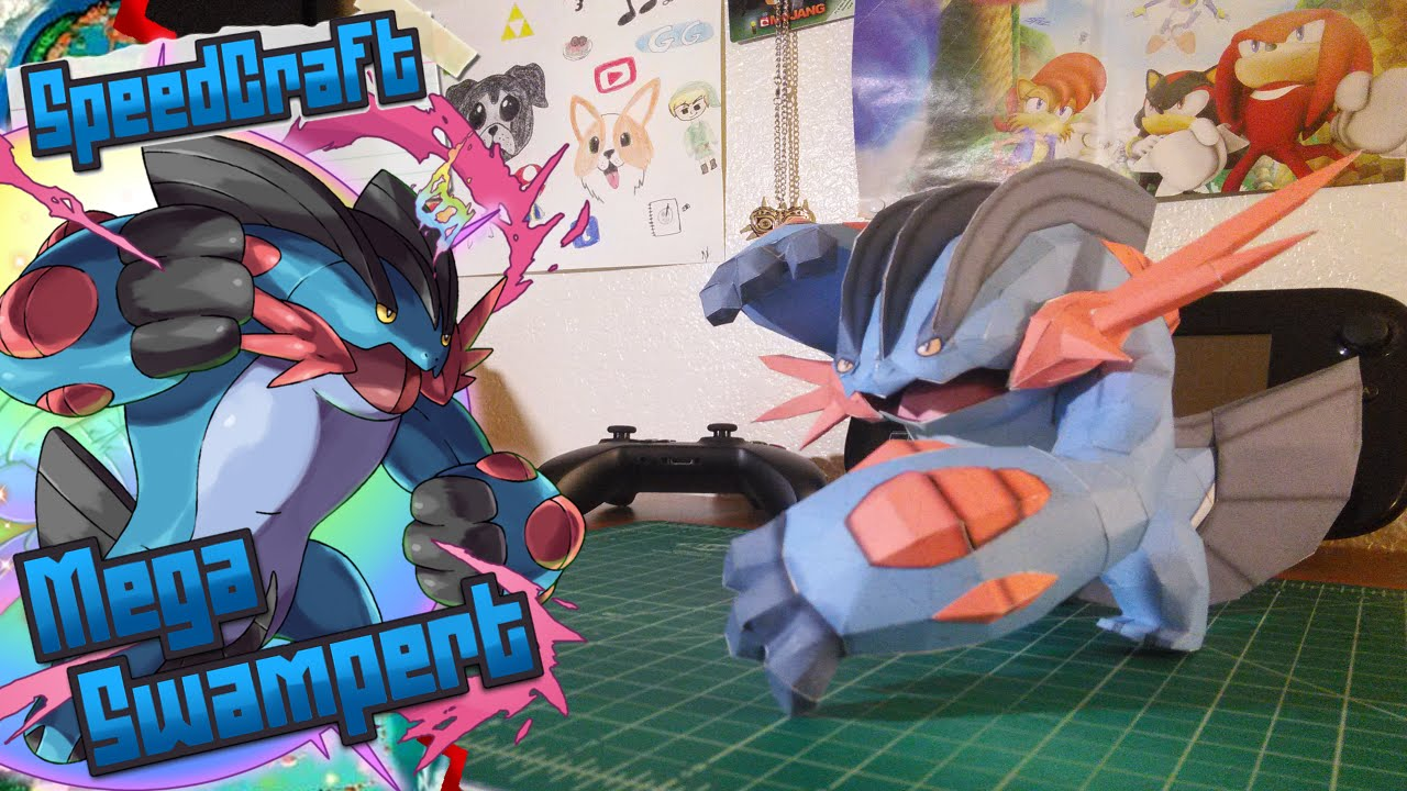 Papercraft Pokemon Papercraft ~ Mega Swampert~