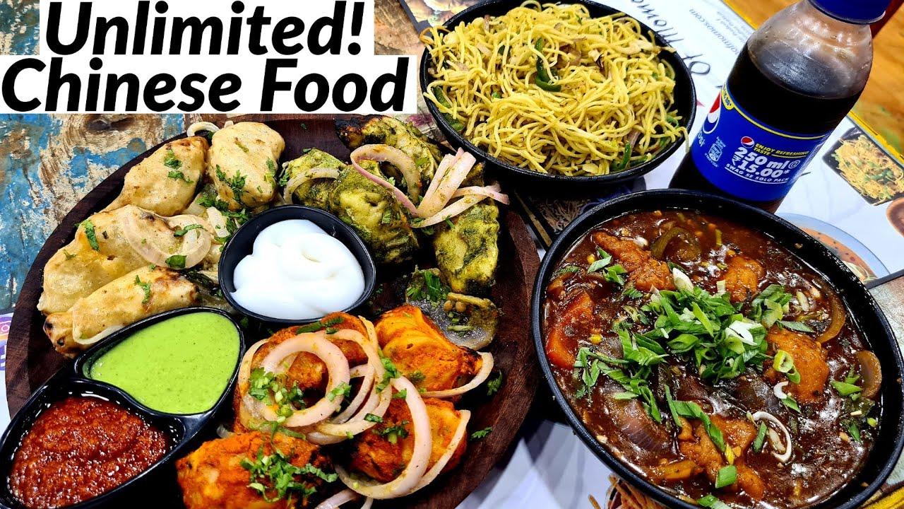 UNLIMITED CHINESE FOOD in DELHI. Tandoori Momo Platter and Chilli Chicken. Delhi Street Food