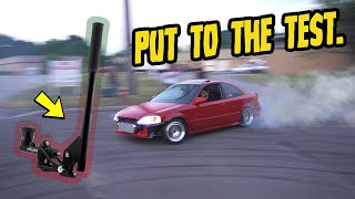 RWD CIVIC gets a hydraulic hand brake!! (FIRST LEGIT DONUTS!!)
