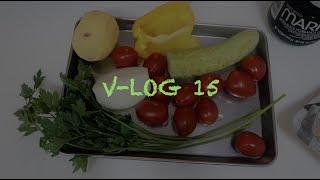 15) 웹소설 작가 v-log. 베이컨 샐러드. 문어감…