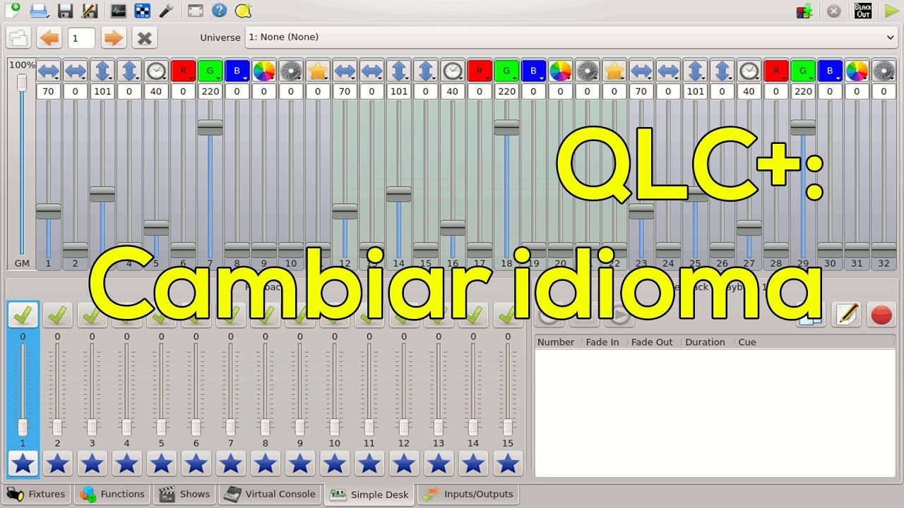 Download QLC+: Cambiar Idioma