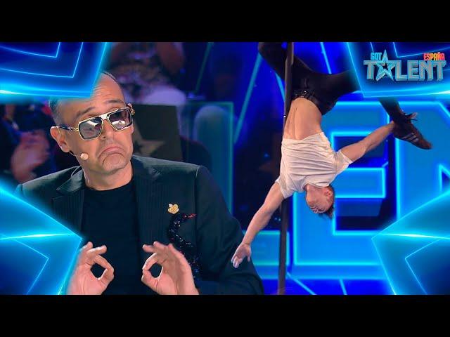 Este ACRÓBATA sorprende con un MOVIMIENTO NUNCA VISTO | Audiciones 7 | Got Talent España 7 (2021)