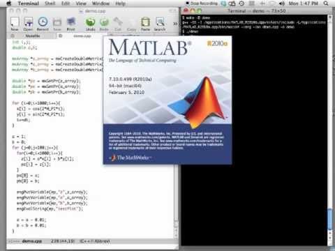 C++ to Matlab