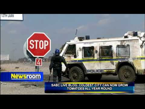 Update from SABC reporter on the protests in Lichtenburg and Coligny