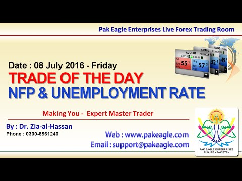 08July16 - Today's Trading Overview - NFP And Unemployment Rate - Free Urdu Hindi Trading Analysis