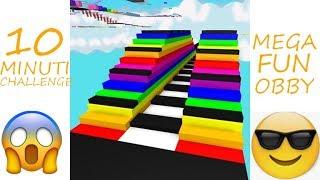 HOW FAR CAN I REACH??!? Roblox Mega Fun Obby | the 10 minute Challenge