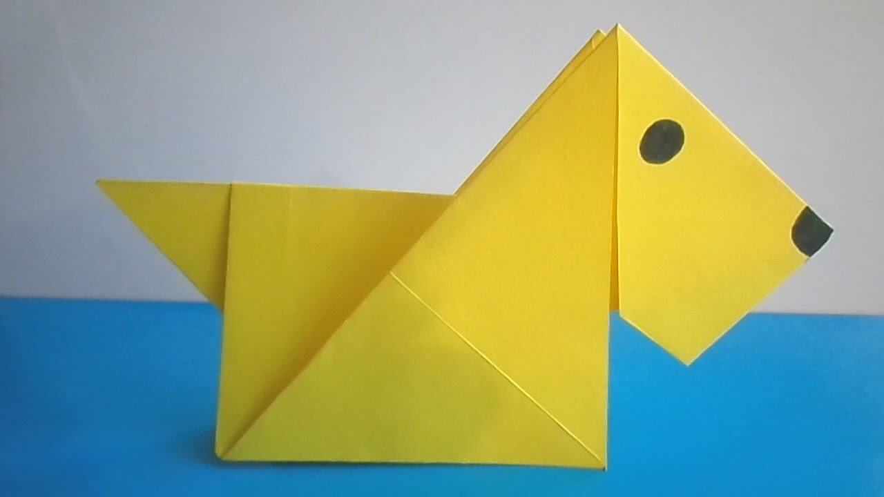 Origami Dog Face Folding Instructions  How to Make an